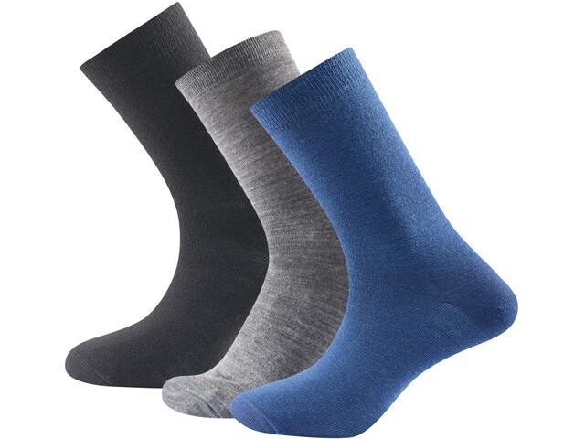 Devold Daily Light Socks 3-Pack Indigo Mix